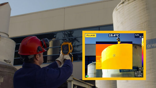 Quickly get in focus images with laser driven target detection only with Fluke's LaserSharp® Auto Focus