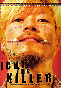 Ichi the Killer (R) && As sadomasochistic yakuza enforcer Kakihara searches for his missing boss he comes across Ichi, a repressed and psychotic killer who may be able to inflict levels of pain that Kakihara has only dreamed of. && Unrated && Takashi Miike && Tadanobu Asano, Nao Ohmori, Shin'ya Tsukamoto &&   && 2001
