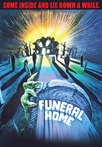 "Funeral Home (R) && The 1980s retro horror classic! Young and frightened 16-year old Heather stays with her grandmother in the hopes of helping her turn a funeral home into a bed-and-breakfast. But strange happenings and unexplained murders around the home quickly make this vacation spot a ""dead-and-breakfast"" - with no answers as to who or what is causing all the death. Gloomy thriller in the Hitchcock vein. && R && William Fruett && Lesleh Donaldson, Kay Hawtrey, Barry Morse, Dean Garbett &&   && 1980"