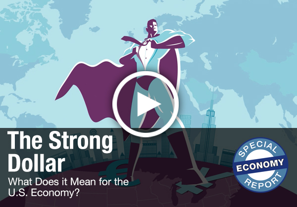 thumbnail of video - The Strong Dollar: What Does It Mean for the U.S. Economy?
