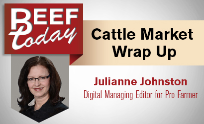 Slightly Bearish Cattle on Feed Report