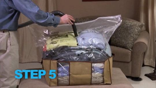 Superpack Set Of 4 Jumbo Stackable Vacuum Seal Storage