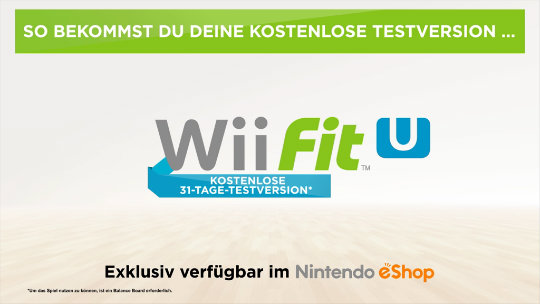 Wii Fit U & Wii Sports Club: Kostenlose Testversion
