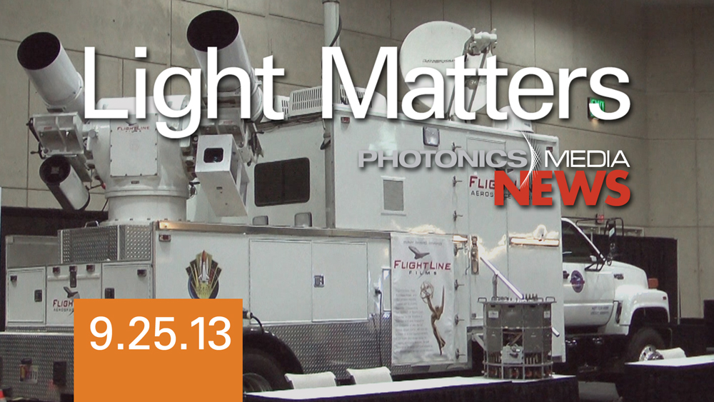 A 24-Mile Jump & DIgital Lasers - LIGHT MATTERS 9/25/13