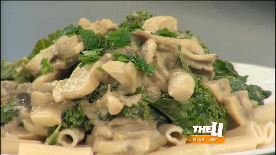 Mushroom & Kale Pasta