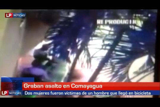 Graban asalto en Comayagua