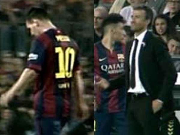 Messi se negó a ser sustituido en el Barcelona-Eibar