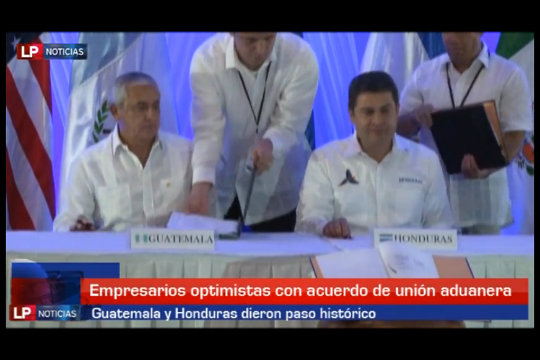 Histórico acuerdo aduanero entre Guatemala y Honduras