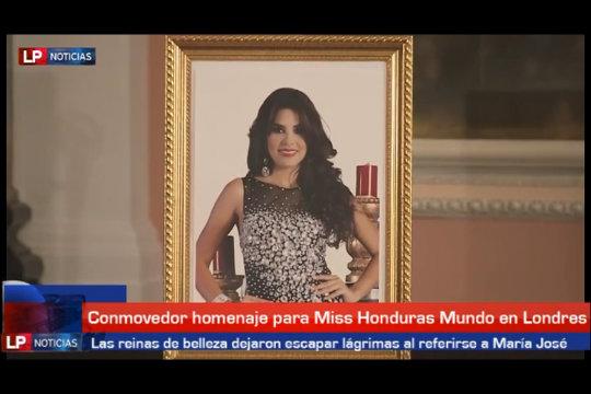 Homenaje a Miss Honduras Mundo en Londres