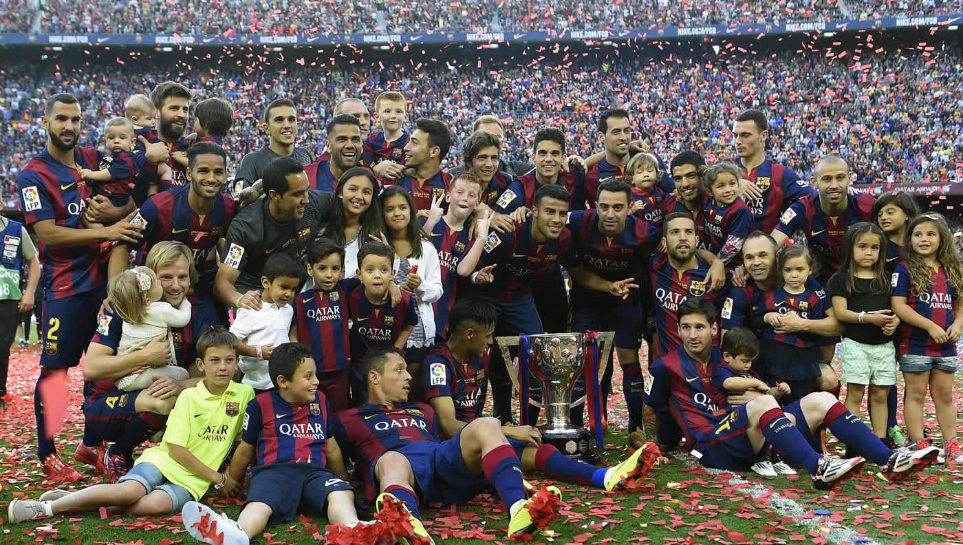 La celebración del título de Barcelona