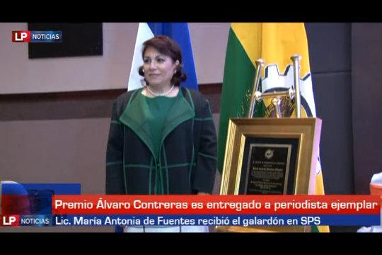 Entregan Álvaro Contreras a Lic. María Antonia de Fuentes