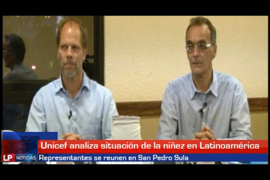 Miembros de Unicef se reunen en San Pedro Sula