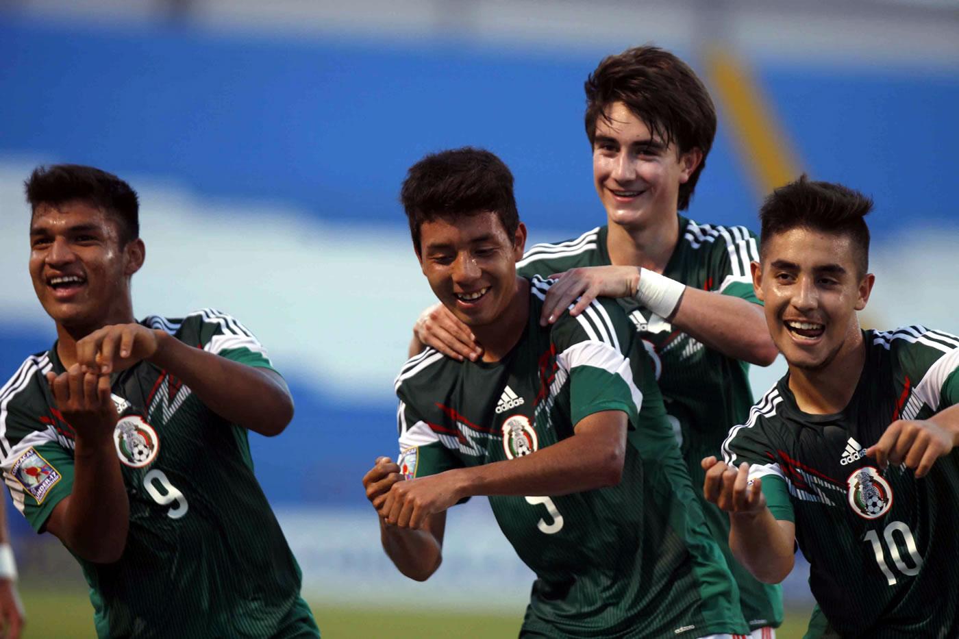 México 6-0 Santa Lucía (Premundial Sub-17)