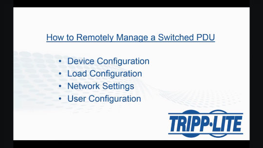 How to Remotely Manage a Switched PDU