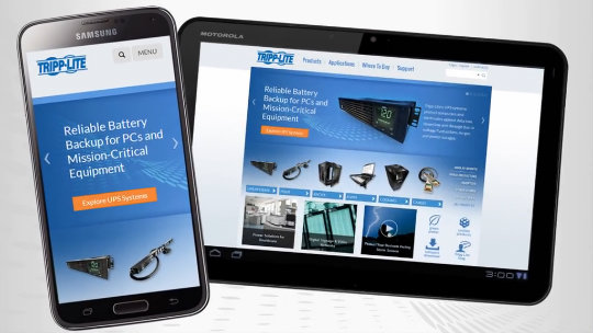 How to Add Tripp Lite's New Website to Your Android Device