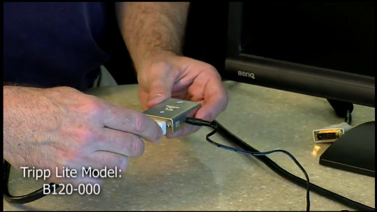 B120-000 DVI Signal Extender Demo