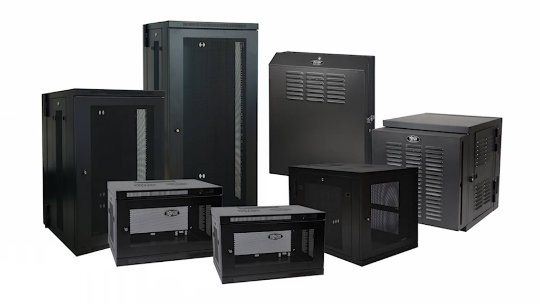 Wall-Mount Rack Cabinets - SmartRack 12U Server Depth Wall Mount Rack Enclosure Cabinet