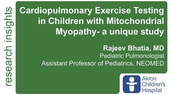 Cardiopulmonary Exercise Testing in Children with Mitochondrial Myopathy - a unique study