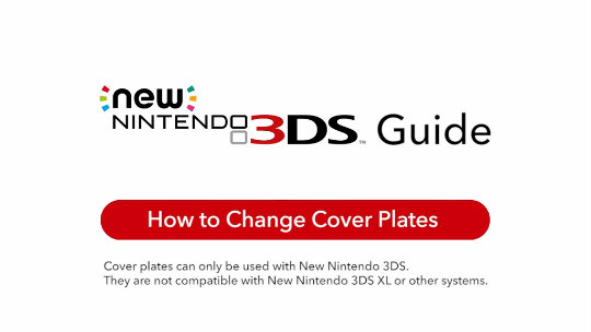 Cover plates (New Nintendo 3DS)